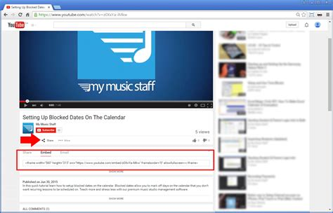 web design html youtube how do i add a youtube video to my site 187 my music staff