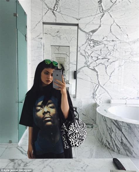 kylie jenners bathroom kylie jenner packs on the pda with beau tyga in instagram