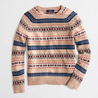Use Jcrew Gift Card At Madewell - lambswool fair isle sweater men s sweaters j crew factory