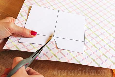 How To Make A Folder Out Of Paper - doll craft make school folders with free printables
