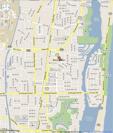 boca raton map map of boca raton kelloggrealtyinc