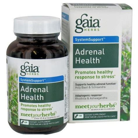 Adrenal Detox Supplements by Gaia Herbs Adrenal Health 120 Capsules The