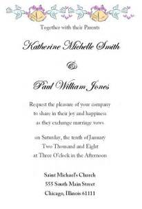 free wedding invitation sles by mail marriage invitation letter sle cloveranddot
