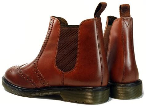 oaktrak mens real leather brogue chelsea pull on dealer