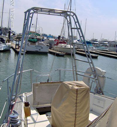 sailboat ideas wells marine arch davit sailboat ideas pinterest