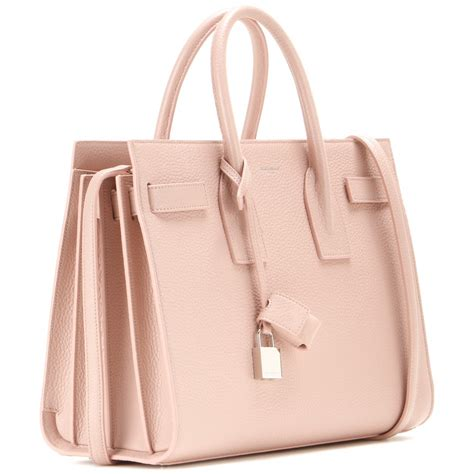Bag For Pink laurent sac de jour small leather tote in pink lyst