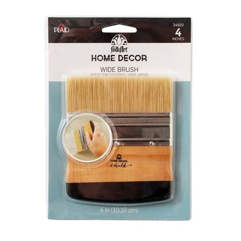 chalk paint wax home depot folkart home decor 4 in chalk finish wide brush 34910