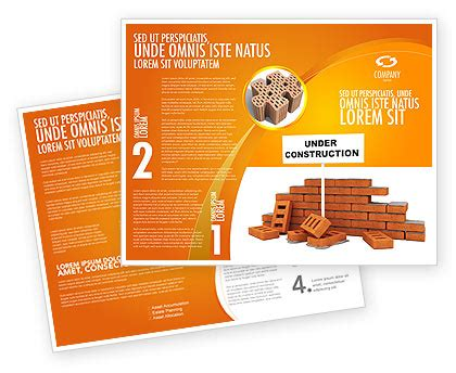 under construction brochure template design and layout