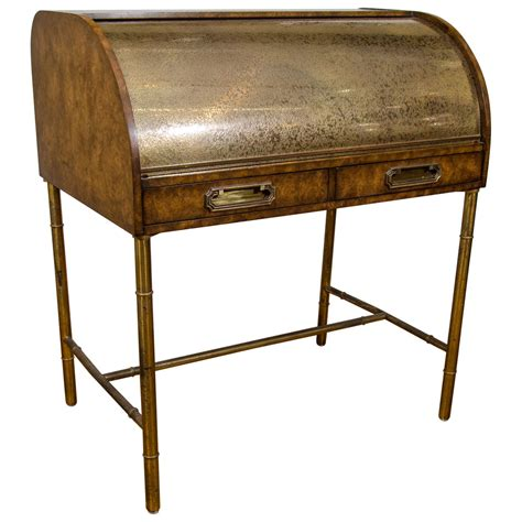 Writing Desk Roll Top by A Midcentury Mastercraft Roll Top Writing Desk At 1stdibs