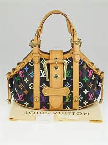 louis vuitton black monogram multicolor theda gm bag