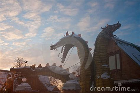 dragon house three headed dragon house stock photography image 7750642