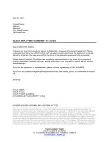 covering letter contract employment contract cover letter sle