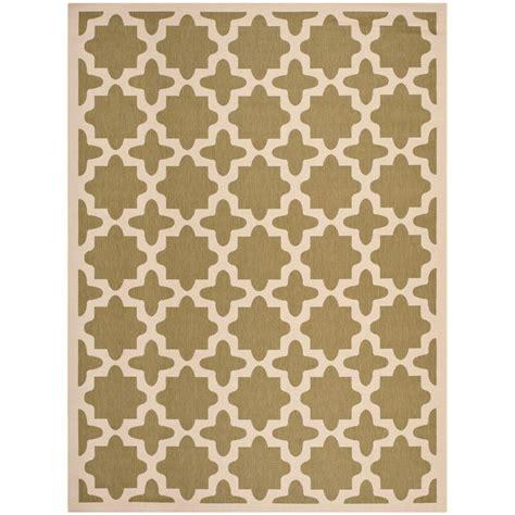 9 x 12 indoor outdoor rugs safavieh courtyard green beige 9 ft x 12 ft indoor outdoor area rug cy6913 244 9 the home depot