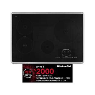 kitchenaid 30 electric induction cooktop kicu509x kitchenaid 30 quot electric induction cooktop sears