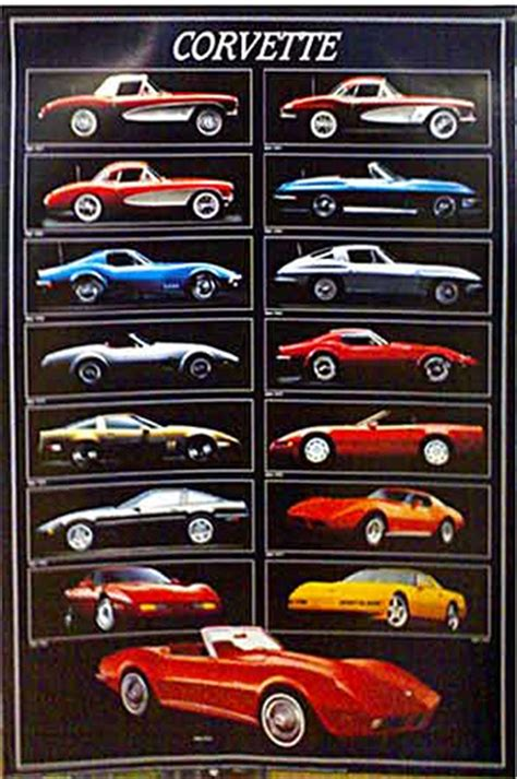 what was the year for the corvette corvette through the years car poster firstposter