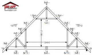 pole barn roof truss designs tam lapp construction llc 24x36 in nc the garage journal board scissor truss
