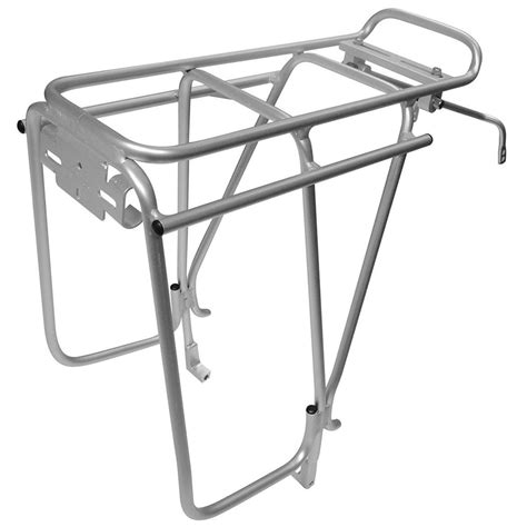 Silver Rear Bike Rack by Tortec Transalp Bike Cycling Rear Disc Brake Pannier Bag