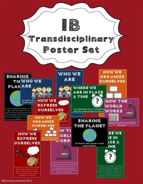 transdisciplinary themes meaning 25 best ideas about ib classroom on pinterest