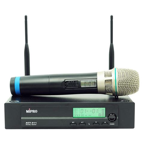 pro av solutions products act311 hh mipro handheld wireless mic package with single channel