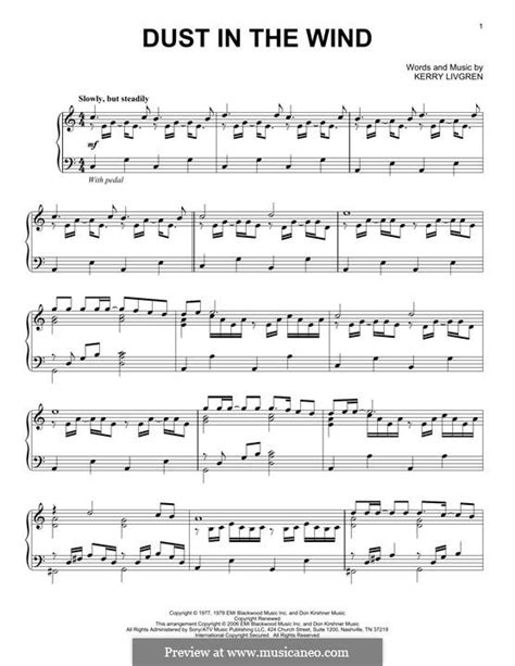 tutorial piano dust in the wind dust in the wind kansas by k livgren sheet music on
