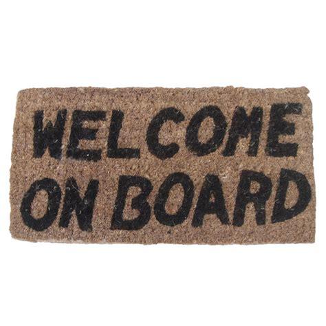 boats on board welcome on board mat sheridan marine