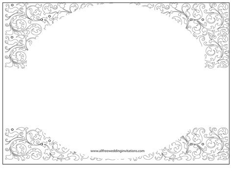 wedding template white wedding all free wedding invitations