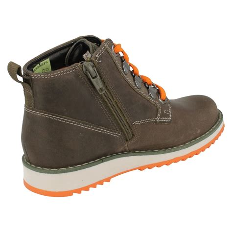 boys leather boots boys clarks casual leather boots fleet hike ebay
