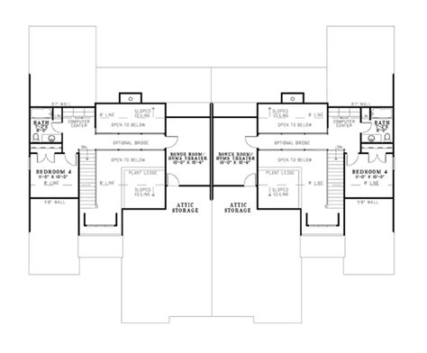 two family floor plans davis rustic duplex plan 055d 0866 house plans and more