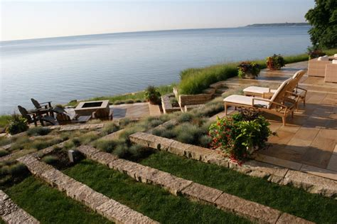 Terraced lakefront Contemporary Landscape milwaukee by David J Frank Landscape