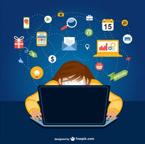 imagenes de personas usando redes sociales dibujo de usuario de redes sociales descargar vectores