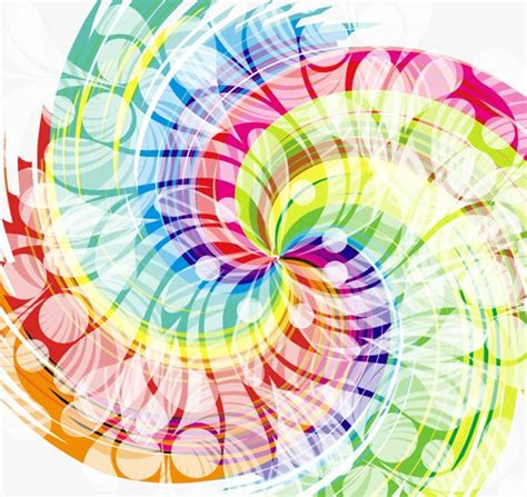 colorful designer abstract colorful swirl design vector background free