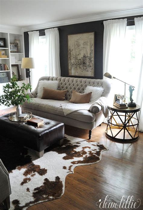 cowhide rug living room ideas best 25 cowhide rug decor ideas on pinterest cowhide