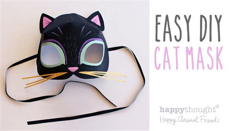 How To Make A Cat Mask Out Of Paper - printable cat mask template photo tutorial