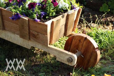 Garden Wooden Wheelbarrow Planters by Gardens Cas And The O Jays On