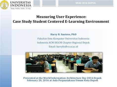 design for the environment case study measuring user experience case study student centered e