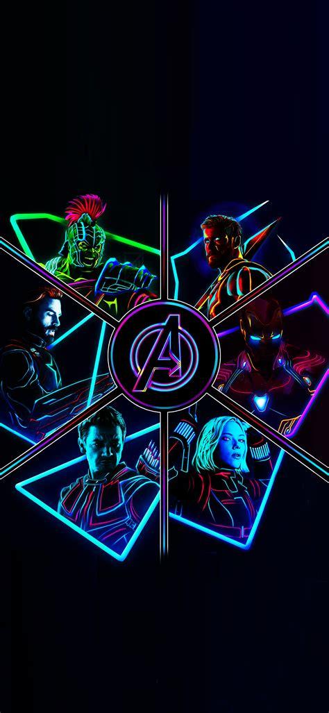 neon avengers full res phone wallpapers marvelstudios