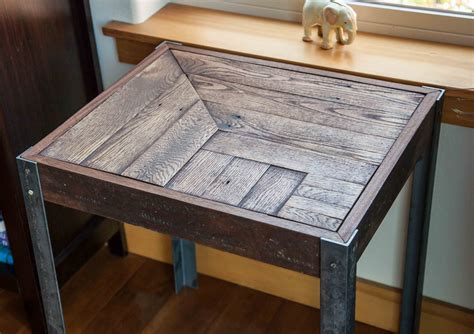 Pallet Side Table Repurposed Pallet Wood And Metal Side Table