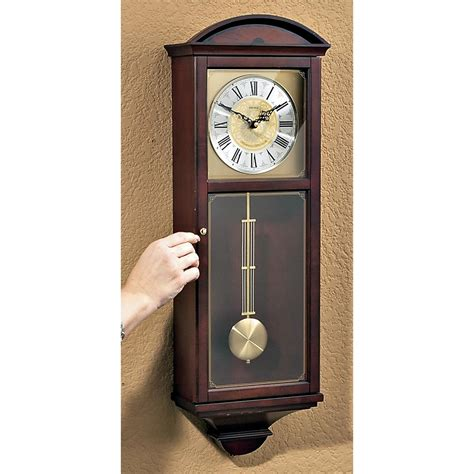 wall clocks canada home decor seiko 174 pendulum wall clock 134517 clocks at sportsman s guide