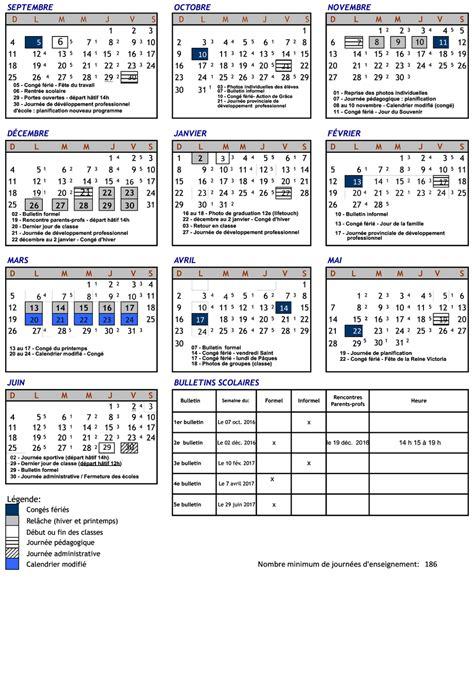 Calendrier Scolaire 2016 17 Ontario Calendrier Scolaire Ottawa Clrdrs