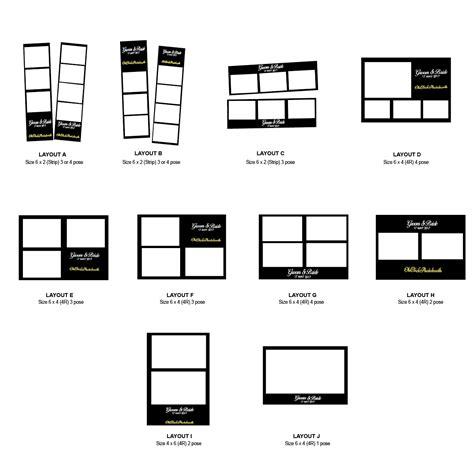 photo booth print layout templates photobooth terlajak murah