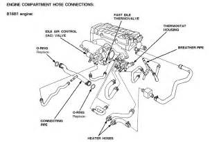 engine compartment hose diagram b18c1 honda tech