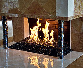 firecrystals glass fireplace pit rocks