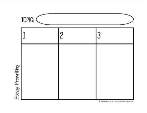 prewriting the essay graphic organizer 2 this free printable plus two others are available