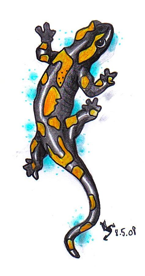 fire salamander tattoo pictures to pin on pinterest
