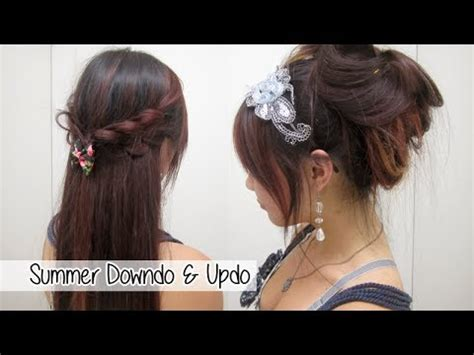 beautiful hairstyles for school youtube 2 cute summer hairstyles l quick easy hairstyles for