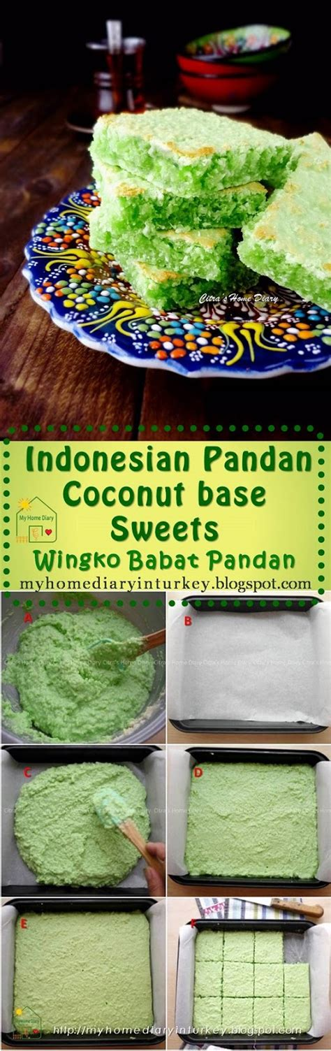 citras home diary wingko babat pandan indonesian