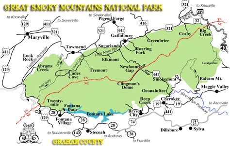 gsmnp trail map great smoky mountains national park