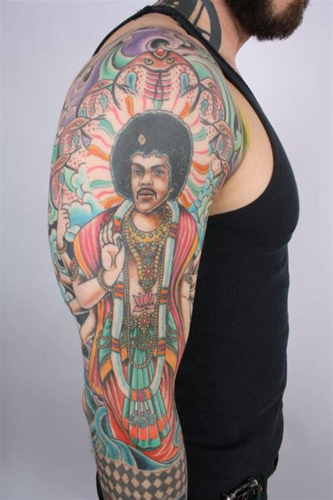 35 attractive jimi hendrix tattoos 11 groovy jimi tattoos tattoodo