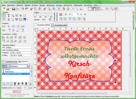 Kostenloses Programm Etiketten Drucken by Heyer S Etiketten Studio Heyer S Druck Und Videoprogramme