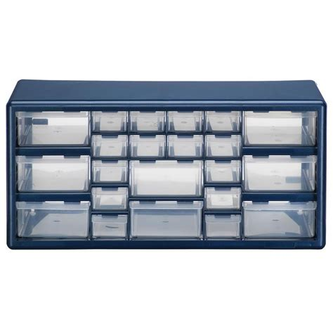 Storage Drawers For by Shop Stack On 19 38 In X 9 62 In 22 Drawer Blue Plastic